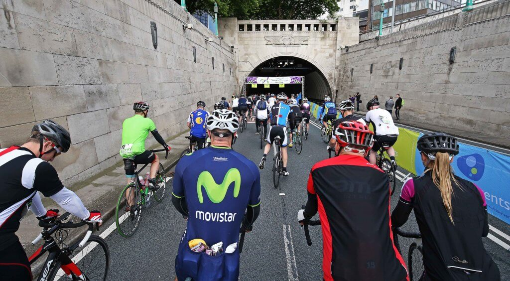 Liverpool to Chester Bike Ride with the start at Birkenhead Tunnel going through Parkgate and Neston finishing in Chester. Images by Gareth Jones