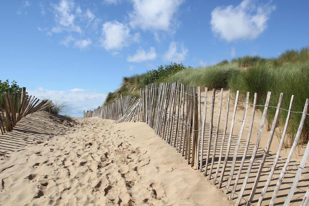 Formby Beach Sand Dunes